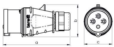 Wtyczka szybkozłączna izolacyjna przenośna IP44