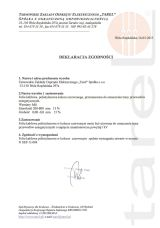 Deklaracja zgodności - Folia kablowa ostrzegawcza